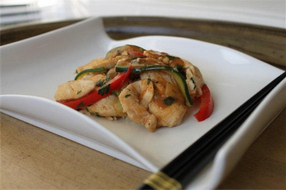 Red Curry Thai Chicken with Basmati Rice