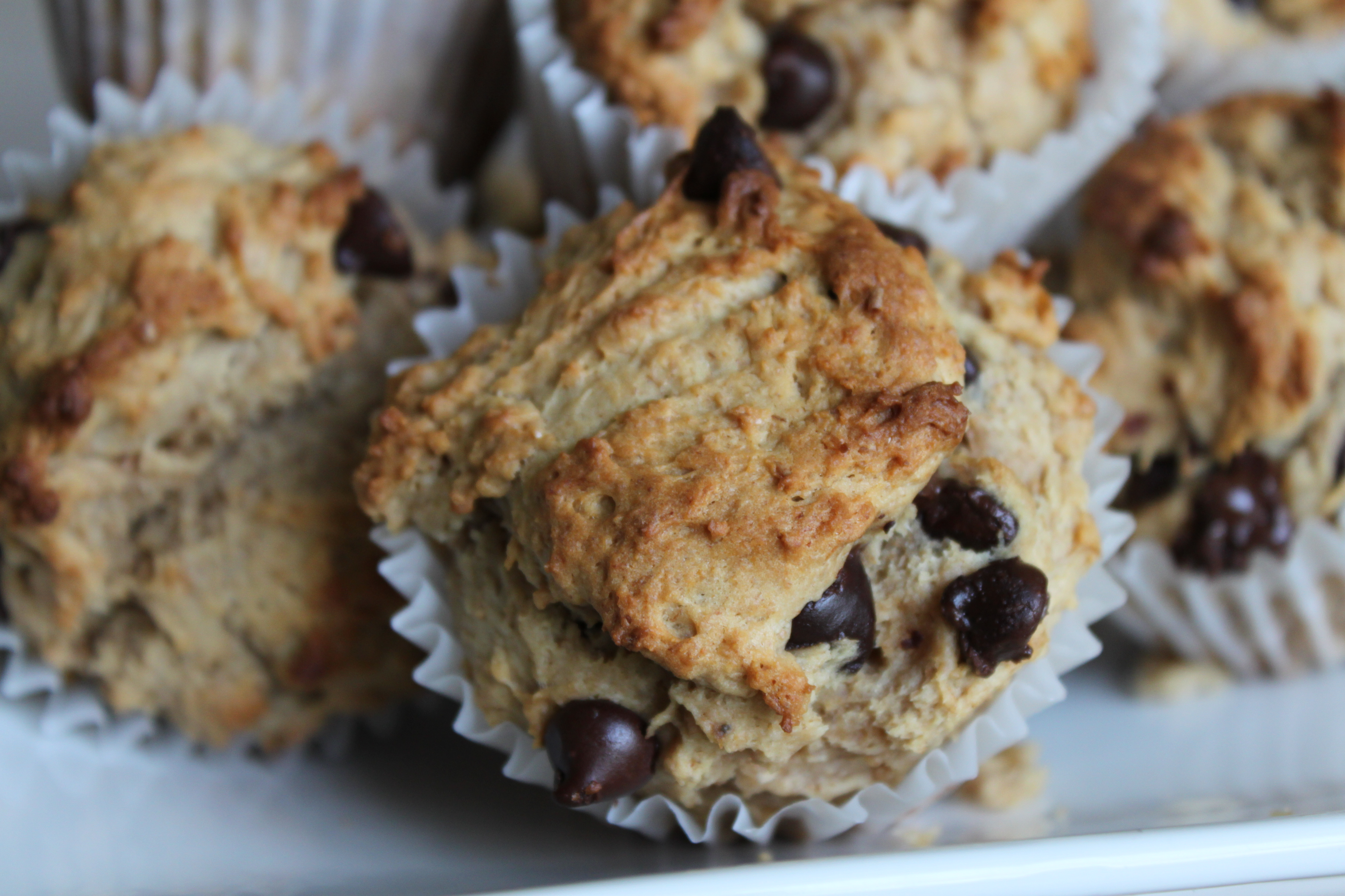 Banana, Peanut Butter and Chocolate Chip Muffins - I Adore Food!