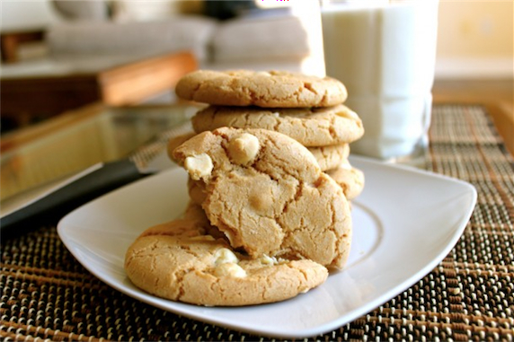 White Chocolate and Macadamia Nut Cookies - I Adore Food!