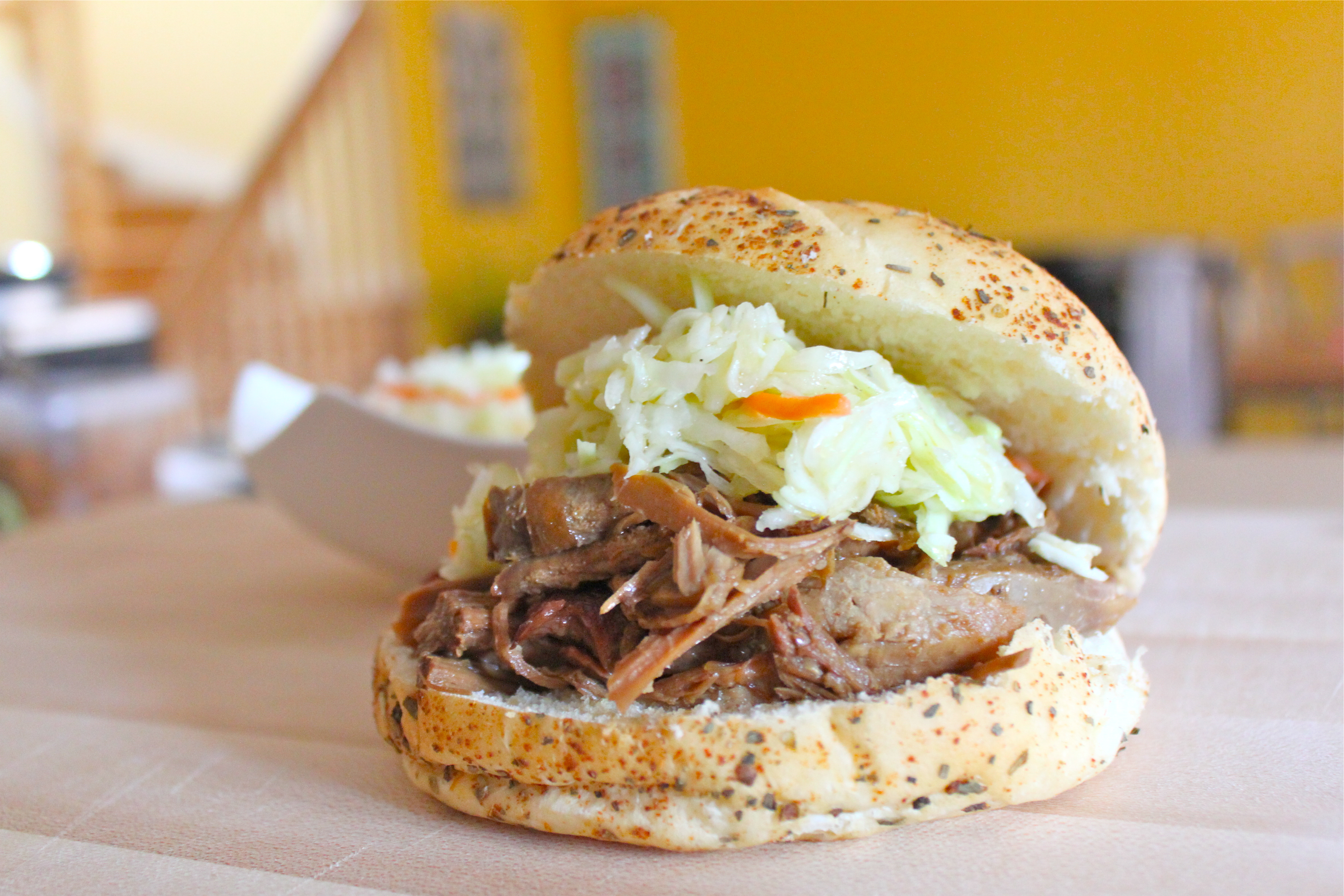 Maple Syrup and Mustard Slow Cooked Pulled Pork - I Adore Food!