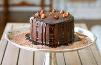 triple chocolate cake lenght