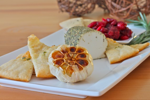 Goat Cheese, Roasted Garlic, Cranberry Compote Appetizer - I Adore ...