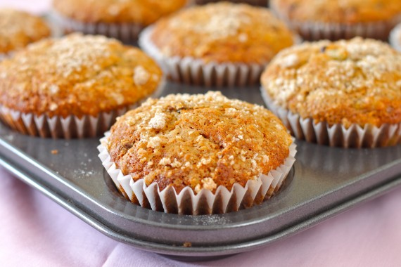 banana pecan choc muffins