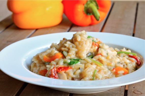 Risotto with lemon and sun dried tomatoes – I Adore Food