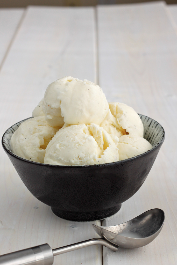 vanilla ice cream long