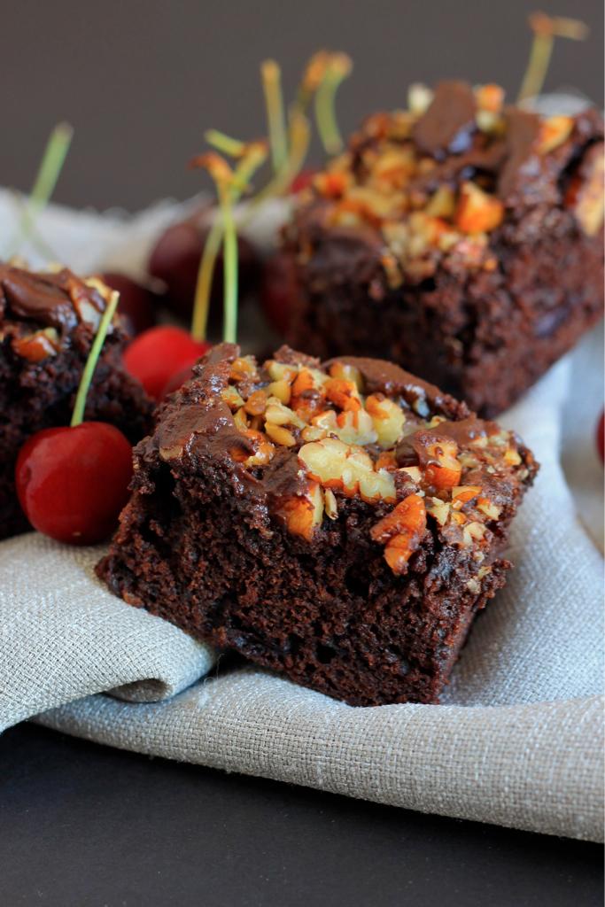Dark Chocolate and Cherry Brownies - I Adore Food!