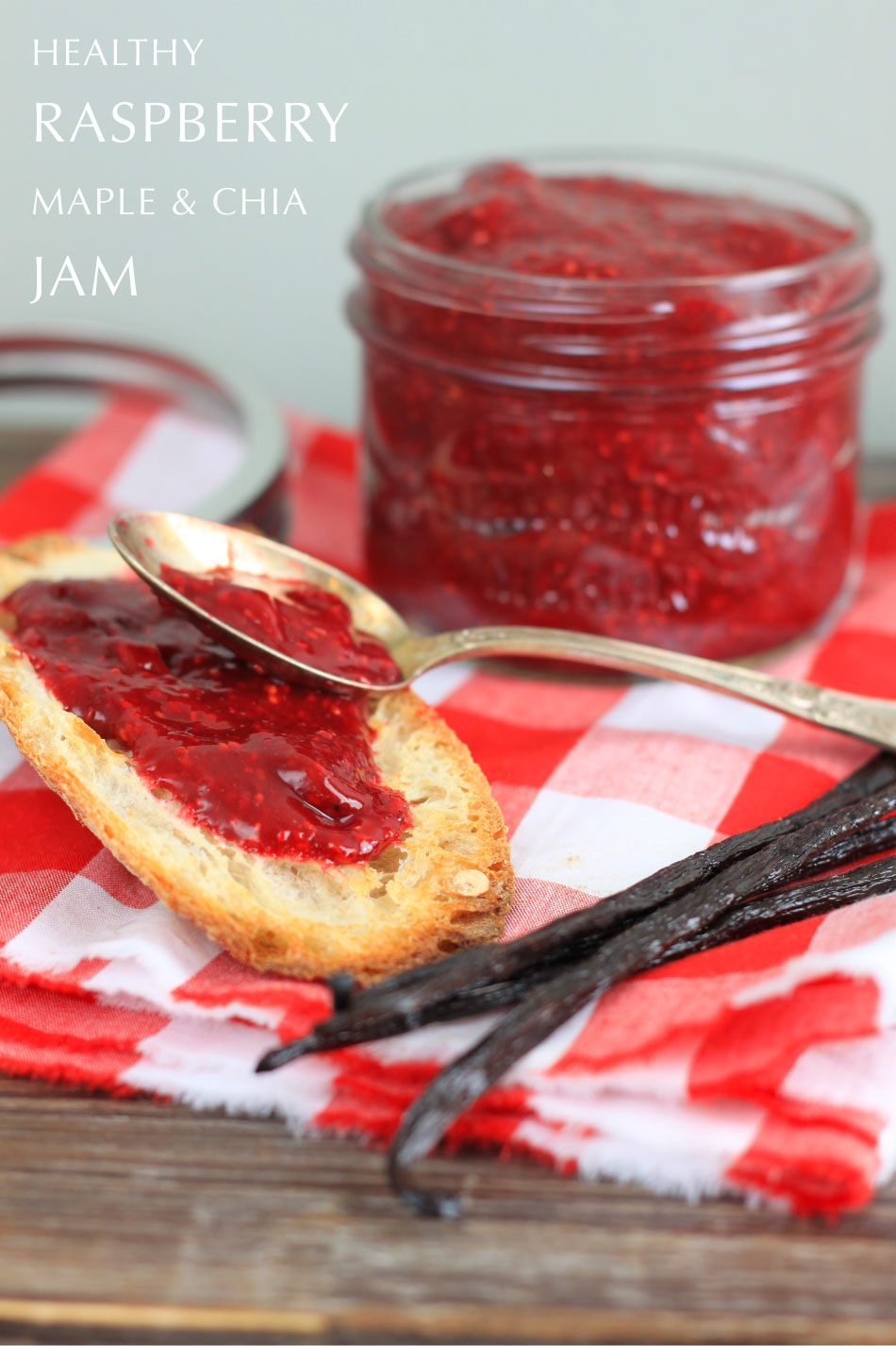 Maple Raspberry Jam {with Chia} - I Adore Food!