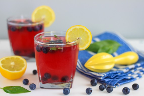 Blueberry and Basil Lemonade